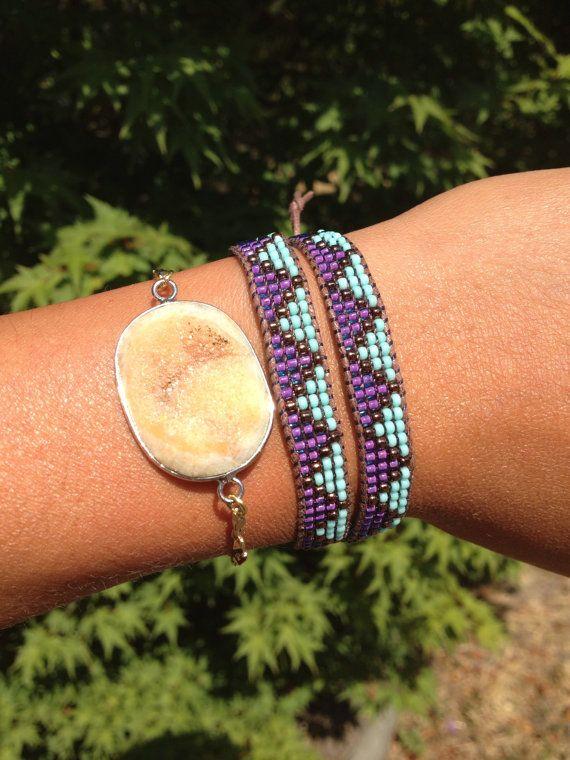 Bead Loom Wrap Bracelet by WanderlustArtistry on Etsy