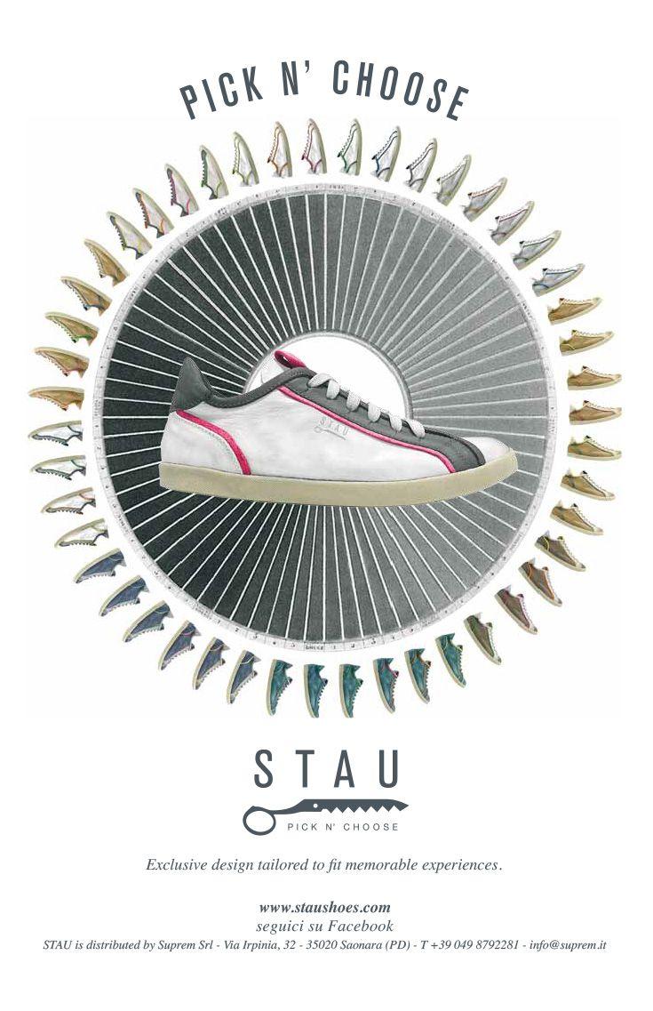 Campagna pubblicitaria Stau, creata da #effADV - #advertising Stau campaign created by effADV - #ad #adv #shoes #trend #design #graphicdesign