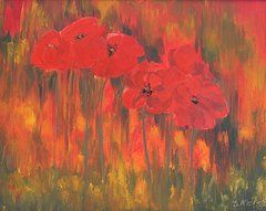 Featured Art - Poppies on Air  by Bev Alldridge