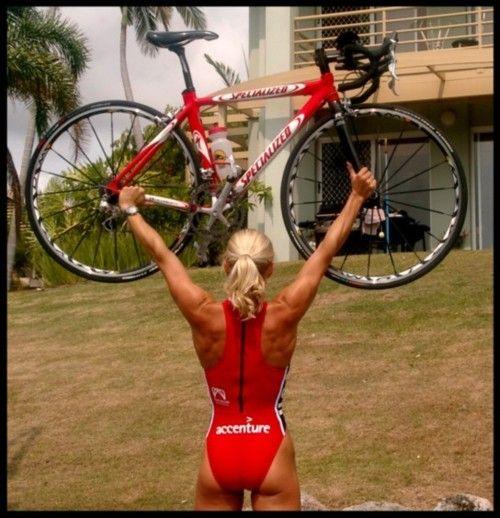 Love this shot. Triathlon Lady. Bicycles Love Girls.  http://bicycleslovegirls.tumblr.com/