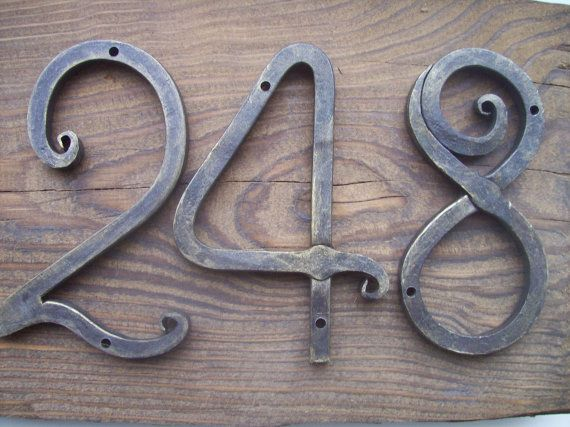 Wrought House Number /Iron House Numbers 5 inches/Door Numbers 5/ Metal house number/Address numbers/Sign Flat Room Number /Rustic decor