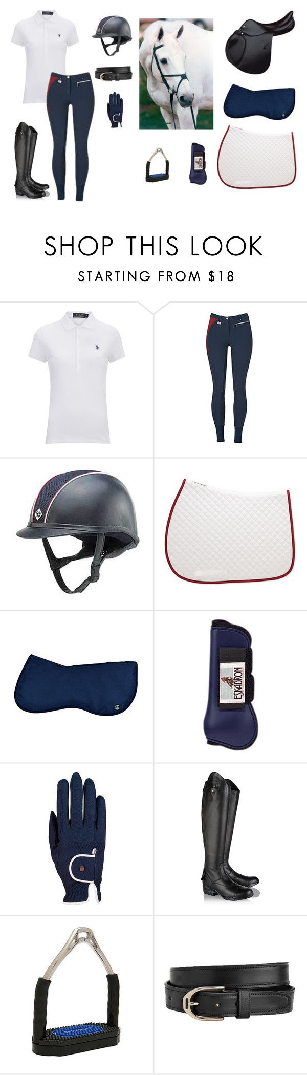 """""""Summer Jumper Clinics"""" by indypaint ❤ liked on Polyvore featuring Polo Ralph Lauren, Roeckl and Ariat"""