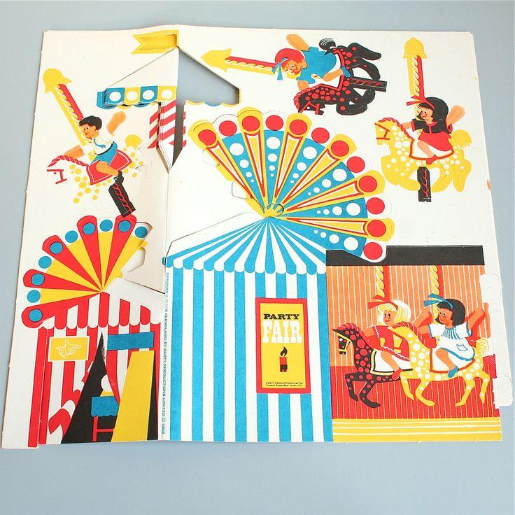 vintage fairground party pack
