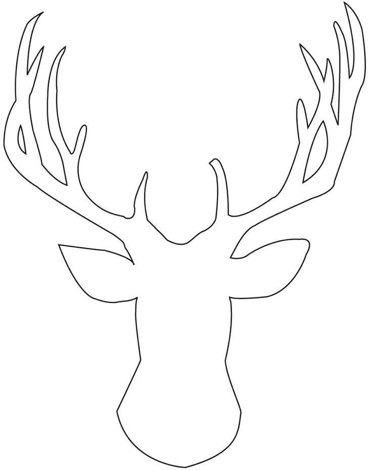 Stag outline.