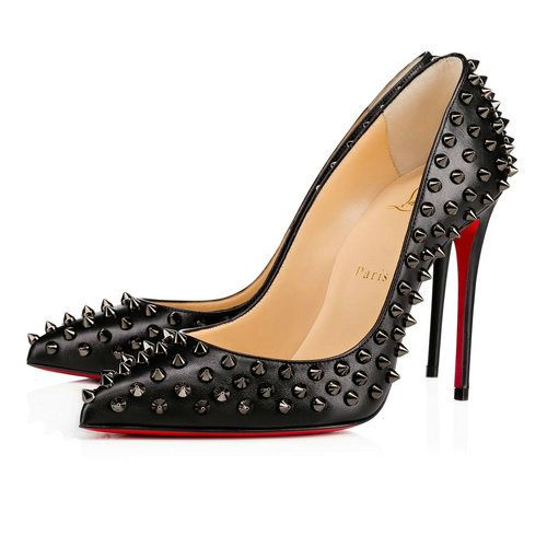 Follies Spikes - Red Bottom Christian Louboutin Shoes