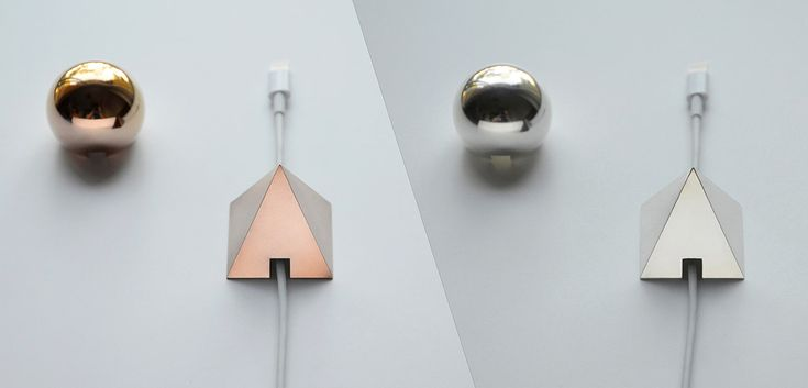 SHAPES - Metal Cable Holder available in silver, gold and rose gold, they work almost any device.