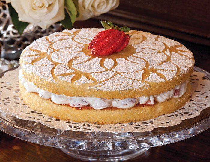 Victoria Sponge Cake was named for Queen Victoria, who enjoyed a slice of this cake with her afternoon tea.
