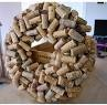 cork wreath: The Holidays, Crafts Ideas, Front Doors, Corkwreath, Wine Bottle, Burlap Bows, Wine Corks Wreaths, Lolly Chops, Corks Crafts