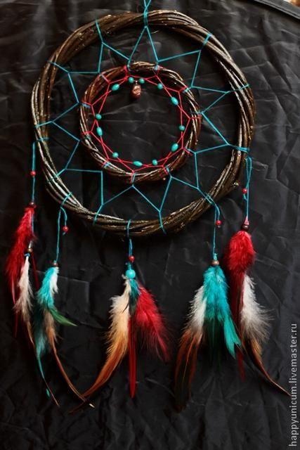 Индейский ловец снов своими руками - Ярмарка Мастеров - ручная работа, handmade