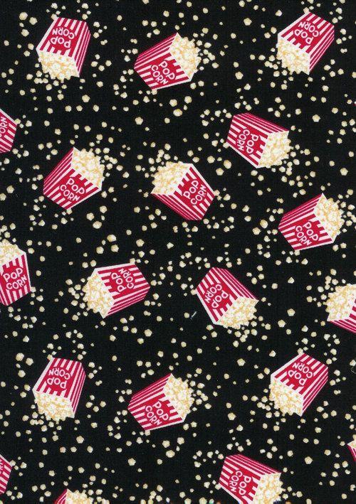 "Timeless Treasures Fun Food MOVIE Popcorn by SeamsSewFunFabrics    ❥Inspirações por ""Hobby&Decor""   #hobbydecor #arquitetura #art #decor"
