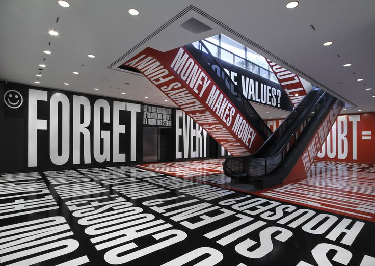 "Barbara Kruger, ""Belief + Doubt"" Hirschhorn Museum, Washington, DC February 2014"