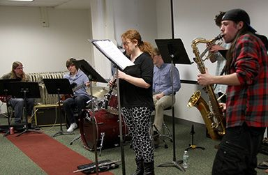 """MCCC Jazz Band students during the """"Explore Mercer"""" Open House April 16, 2015."""