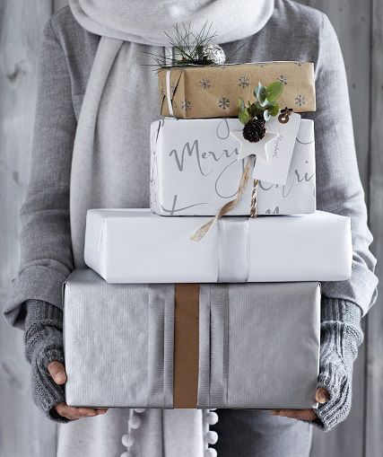 https://social-media-strategy-template.blogspot.com/ #SocialMedia Christmas tidings are best wrapped in silver and white, and tied with pom pom ribbons!