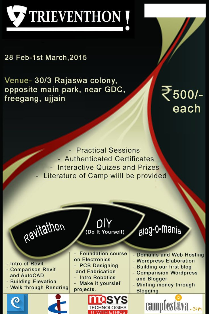 Poster of an event organised by the students of second year.