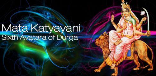 Navratri 6th Day Poojan Worship of Katyayani Mata Aarti Mantra Photos Images Pics Wallpapers