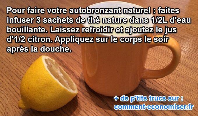 L'Autobronzant Naturel et Durable au Citron.