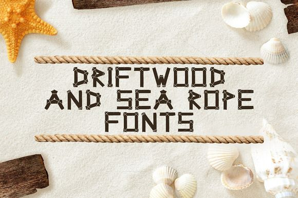 Driftwood & Sea Rope fonts by tmcom on @creativemarket
