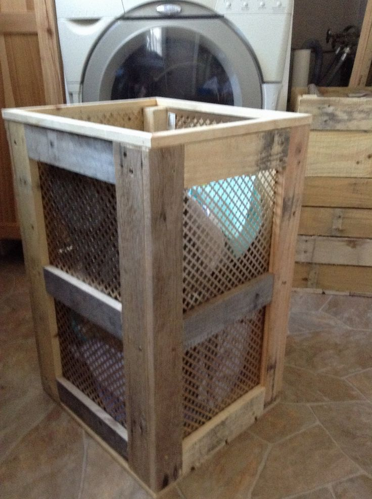 Pallet Laundry Hamper Pallets Laundry And Laundry Rooms