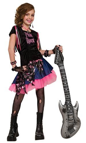 Pink Rock Girls Costume - Rock Star Costumes
