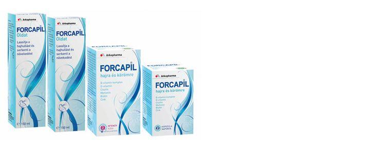Hajhullás, kopaszodás elleni szerek, hajhullás kezelése - Forcapil haj és köröm növekedés