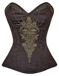 Sample-Size 36-Gilded Chalices Steampunk Corset
