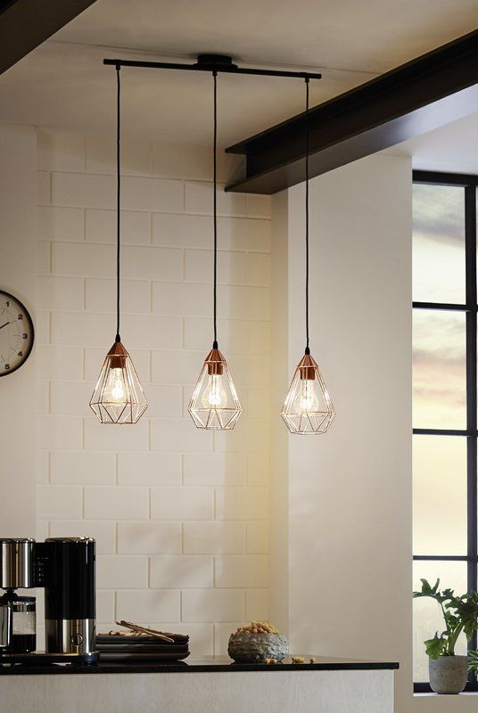 tarbes 3 light kitchen island pendant kitchen lights in 2019 rh pinterest com