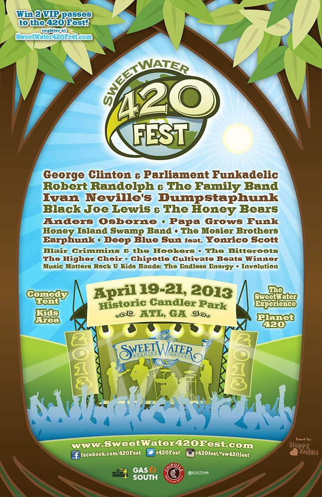 SweetWater 420 Fest April 19-21, 2013 in Candler Park