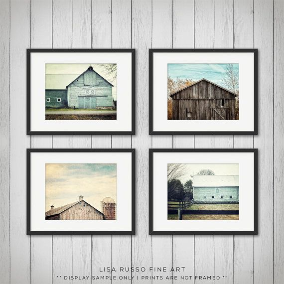 barn art teal home decor barn photography rustic decor