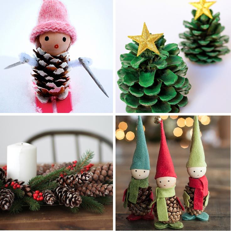14 easy pinecone crafts to decorate your home this christmas