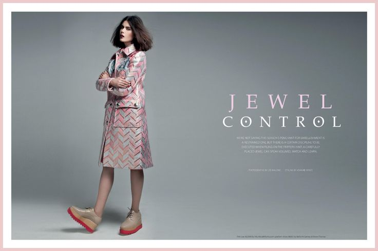 JOANNE HYNES | Irish Tatler | Oct 2014 | Joanne's Styling for editorial Jewel Control | Photo by Lee Malone Photography