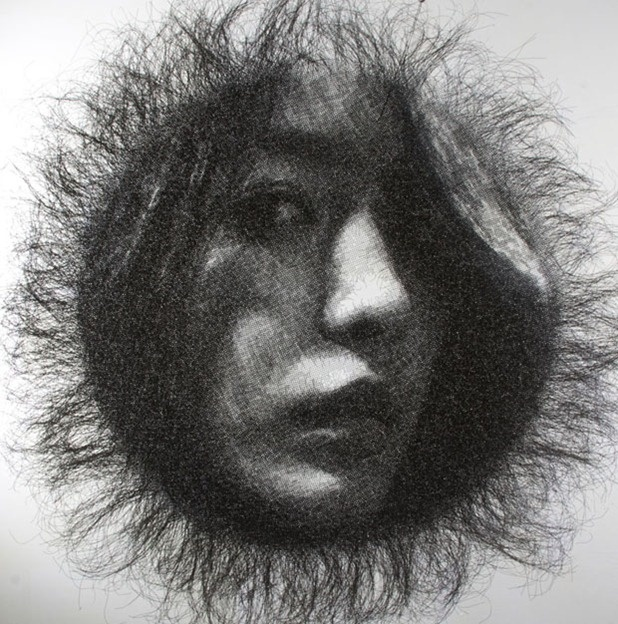 wire mesh portrait by seung mo park