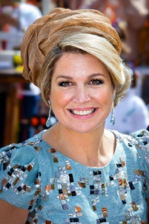 Dutch Queen Maxima attends the 2014 King's Day celebrations in De Rijp