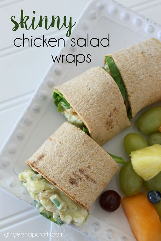Skinny Chicken Salad Wraps  {recipe} #cansgetyoucooking #ad @CansGetUCooking