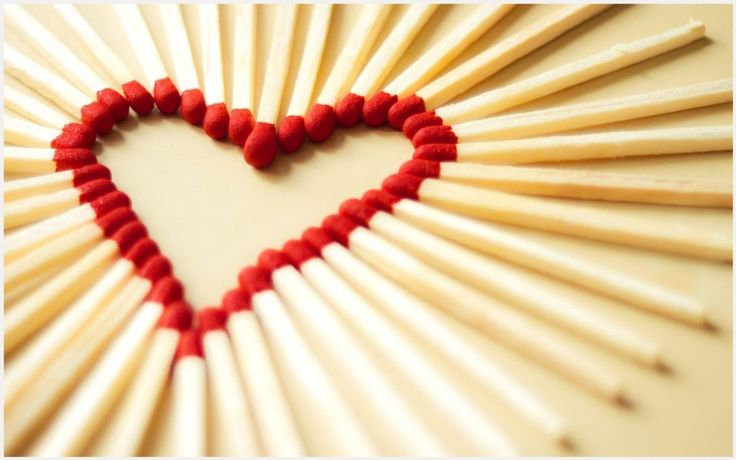 Match Sticks Forming A Heart 776498 Widescreen Desktop Mobile Iphone Android Hd Wallpaper And