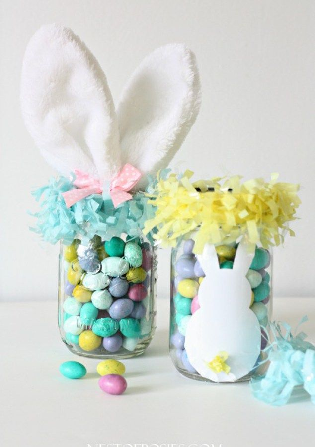 56 best mason jars easter images on pinterest easter crafts mason jar easter basket negle Choice Image