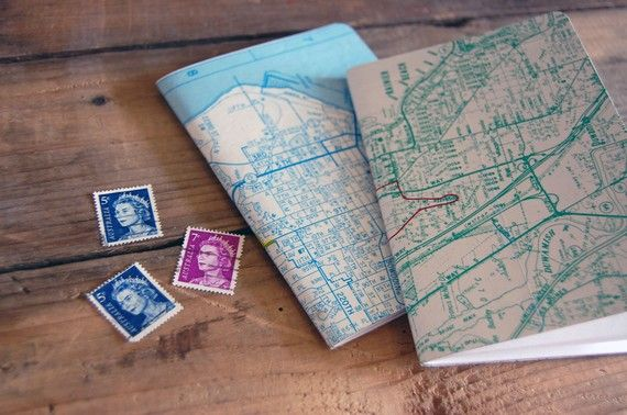City Recycled Map Notebook  by Sara Tenanes