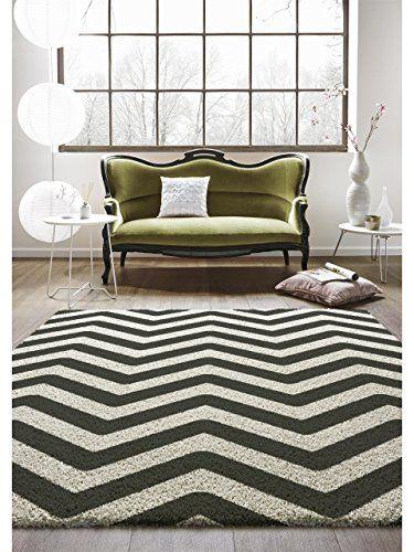 benuta Alfombra moderna Graphic Zick Zack Blanco y Negro 80x150 cm - Marca de calidad GuT - 100% Polipropileno - Chevron / Zigzag - Tejido a máquina - Cuarto de estar