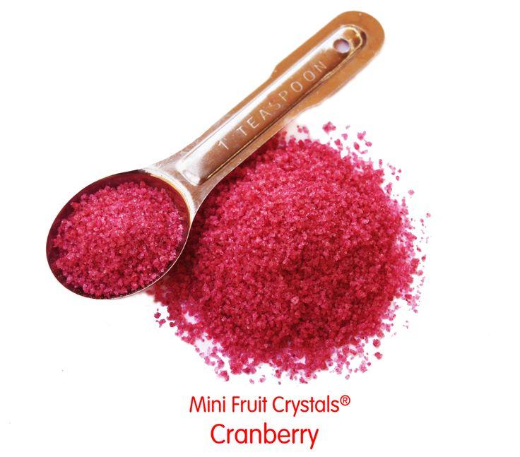 Mini Fruit Crystals Cranberry - Perfect Glass Rimmer! MolecularRecipes.com Store