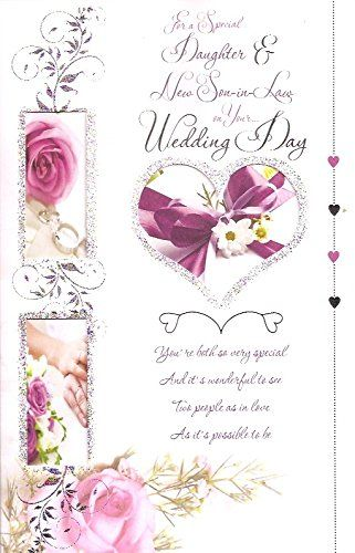 Daughter And New Son In Law Wedding Day Greeting Card With A Personalised Touch