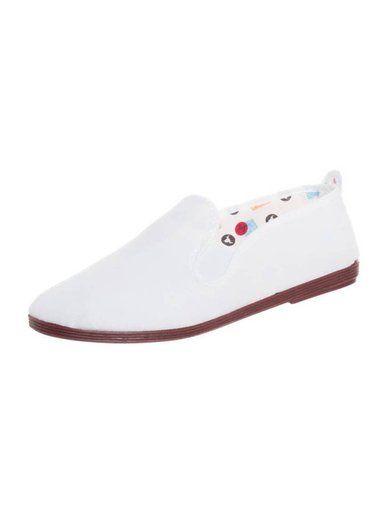 Flossy CLASSIC P�buty wsuwane blanco (white)