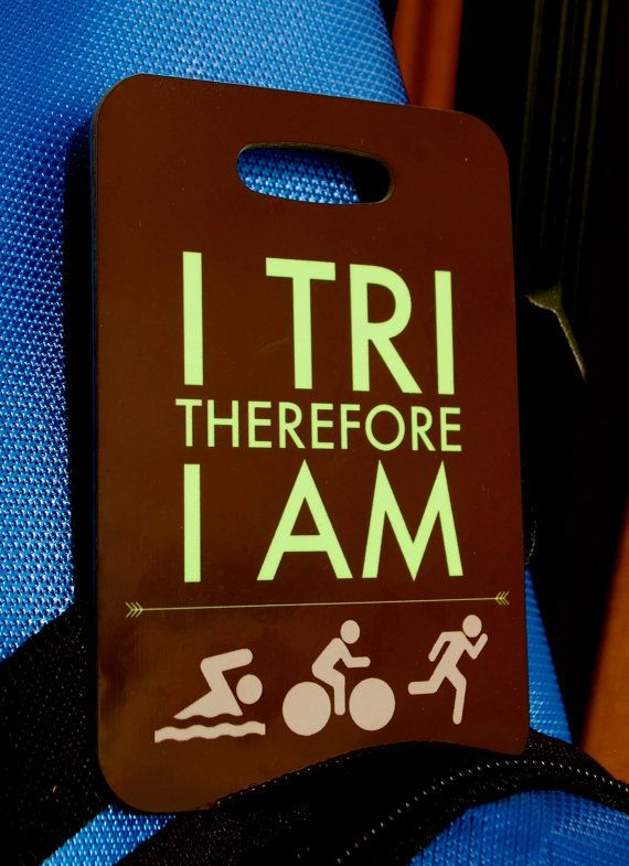 Triathlon Bag Tag Swim Bike Run luggage  gear bag  by FlipTurnTags