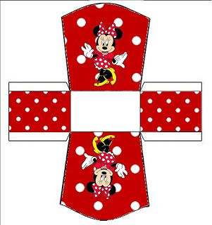 Kit Completo Minnie Vermelha - com molduras para convites, rótulos de guloseimas, lembrancinhas e imagens