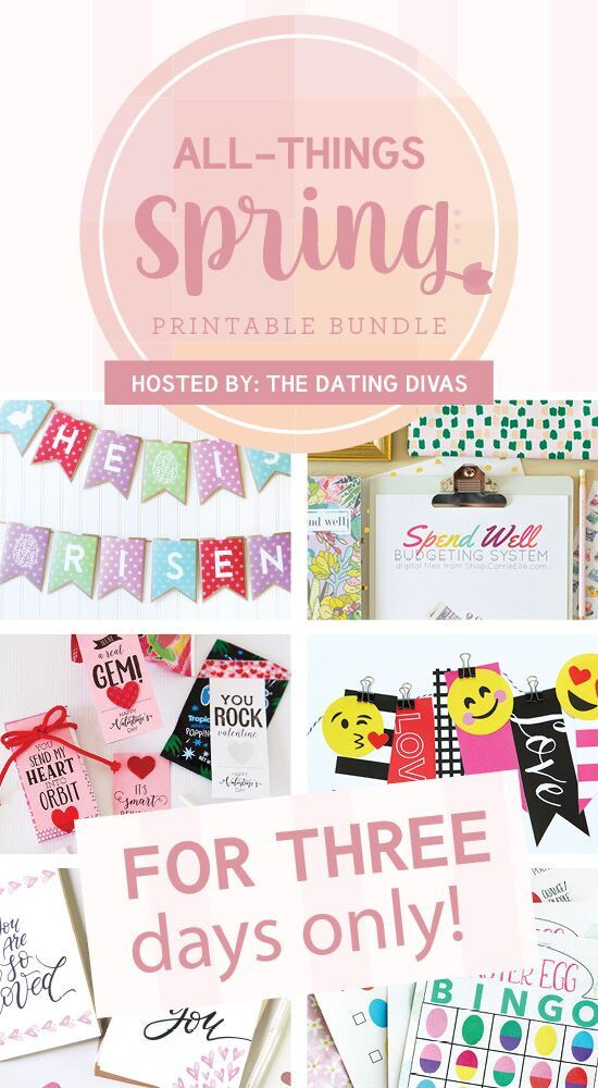 All Things Spring Bundle - 25 incredibly fun, cute, and practical spring activities for one LOW price.  Get ready to say goodbye to Winter and Spring into Spring! We've put the very best Valentine's Day, Easter, and Spring printables all in one place! AND of course, we have a KILLER deal for you…