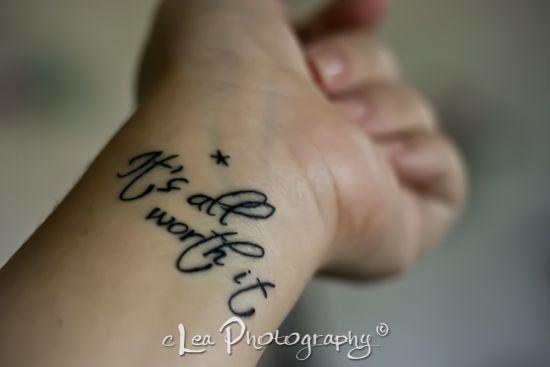 Best tattoos artist in the world, strength tattoos on wrist