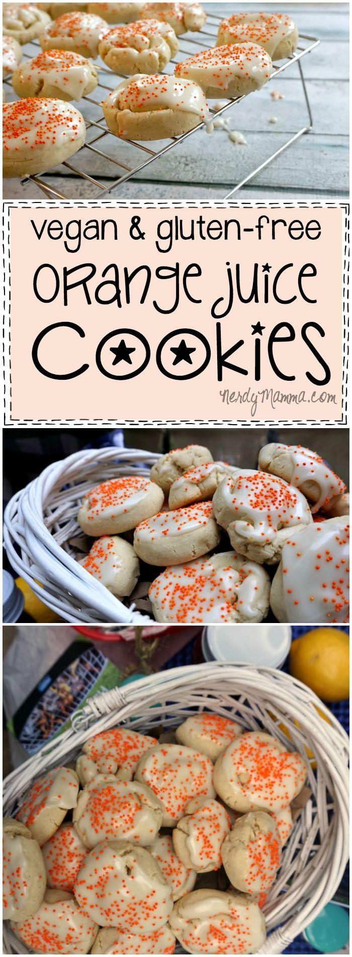 Vegan & Gluten-Free Orange Juice Cookies | Recipe | Foods ...