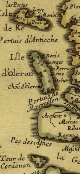 Sympa cette ancienne carte de l'Île d'Oléron :-) #Carte