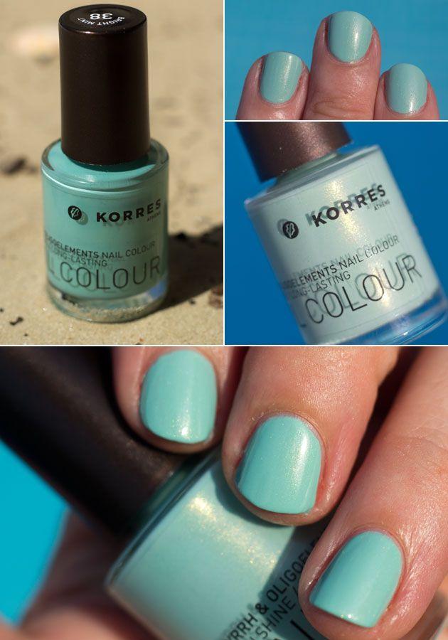 Bright Mint - Korres   Nails   Pinterest   Ongles