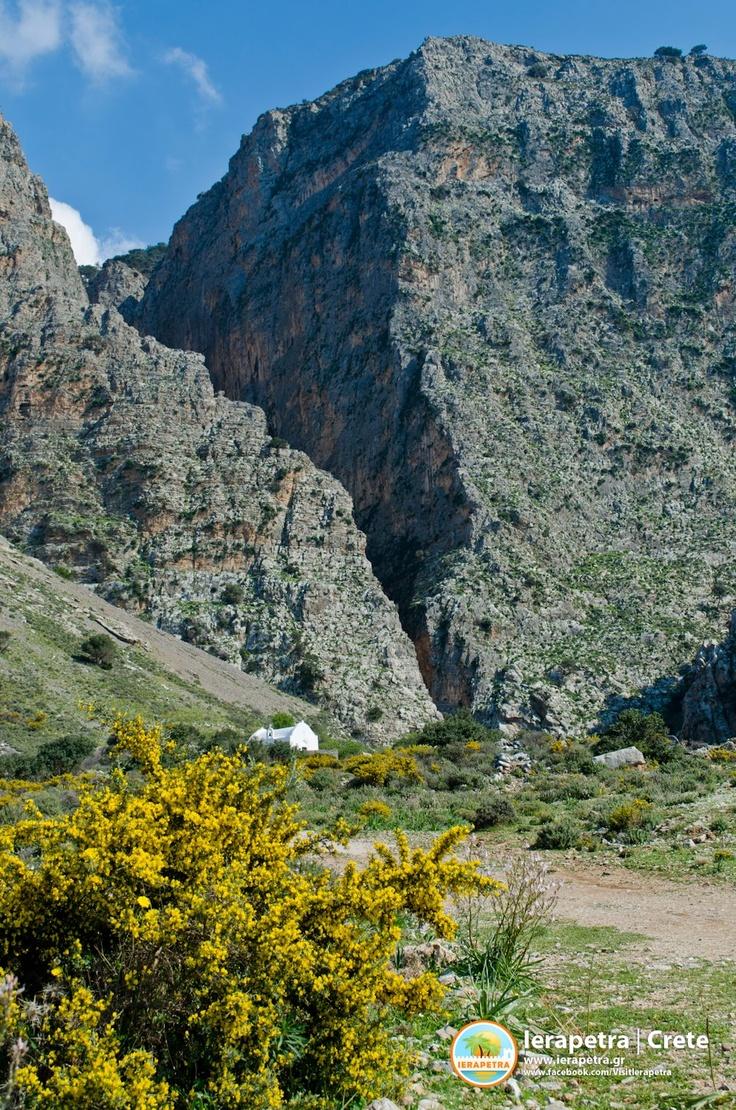 The gorge of Ha in Ierapetra. Το φαράγγι του Χα  στην Ιεράπετρα.