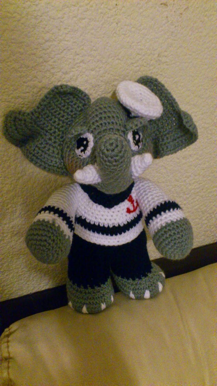77 best Haken - olifanten images on Pinterest | Crochet animals ...