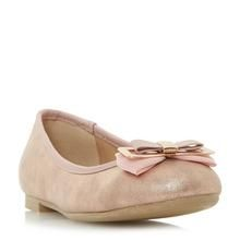 HEAD OVER HEELS LADIES HONOR - Bow Detail Ballerina Shoe - rose gold    Dune Shoes Online